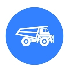 Haul truck icon in black style isolated on white vector image vector image