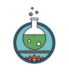 laboratory tube retro circle icon science vector image vector image