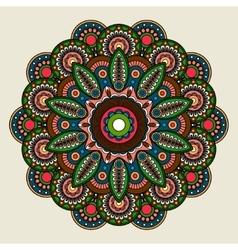 Floral bright colored mandala vector image vector image