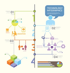infographics set and Information technology Graph vector image vector image