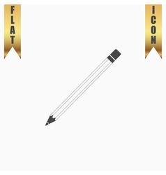 Pencil flat icon vector image
