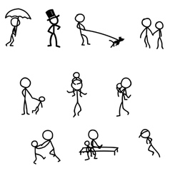 sticks walking games with baby vector image vector image