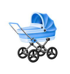 3d bastrolle blue bacarriage pram vector image
