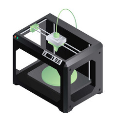 3d printer icon isometric style vector image