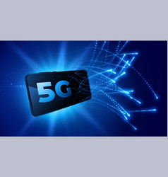 5g mobile technology fifth generation telecom vector image