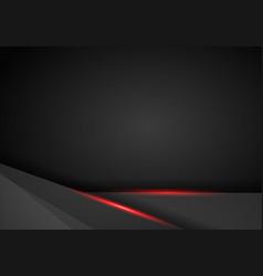 Abstract metallic black red frame sport design vector
