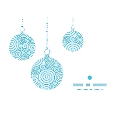 Abstract swirls Christmas ornaments silhouettes vector