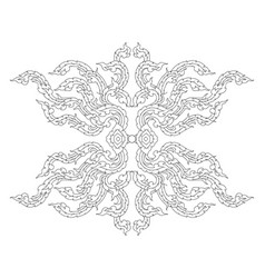 Artistic art pattern on a white vector