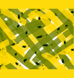 Artistic color brushed yellow green texture with vector