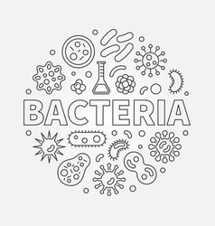 Bacteria round symbol made with different vector