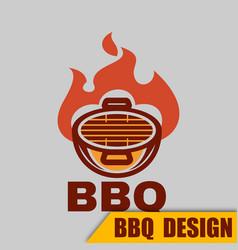 Bbq bbq logo image vector
