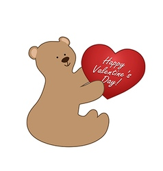Bear and heart vector