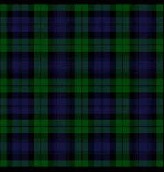 black watch tartan plaid vector image