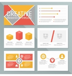 Business presentation template set vector