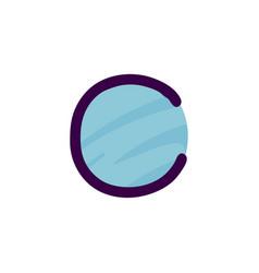 c letter logo in kids paper applique style vector image
