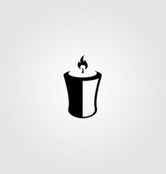 Candle light flame logo silhouette vector