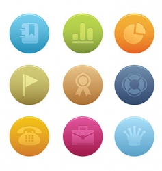 circle office icons vector image