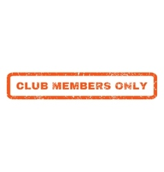 Club Members Only Rubber Stamp vector