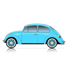 Compact blue car vector