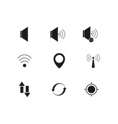 contact black voice set icons vector image