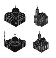 design parish and faith symbol vector image