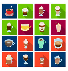 different types of coffee different types of vector image