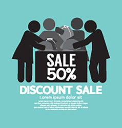 Discount Sale 50 Off Symbol vector image