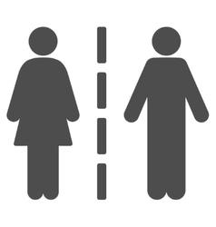 Divorce line flat icon vector