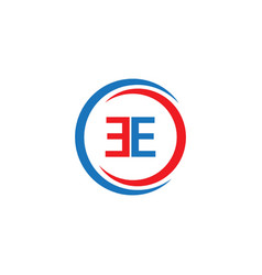 Ee company logo template design vector