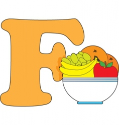 F is for fruit vector