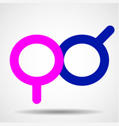 female and male gender symbol sign vector image