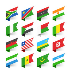 flags of the world africa set 2 vector image