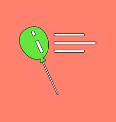 Flat icon design collection balloon silhouette vector