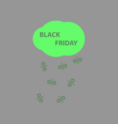 Flat icon of black friday rain cloud vector