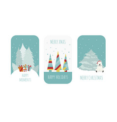 Flat style christmas holiday elements for vector