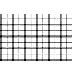 flower of scotland tartan black white pixel vector image