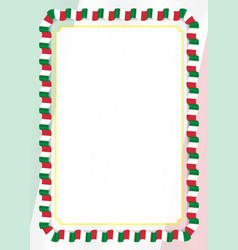 Frame and border of ribbon with italy flag vector
