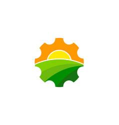 Gear farm logo icon design vector