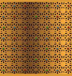 Golden pattern islamic background vector
