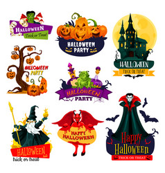 halloween monster icon for october holiday design vector image