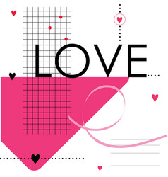 Happy valentine day sweetheart cute cartoon vector