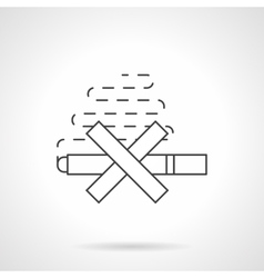 Harm of smoking flat line icon vector