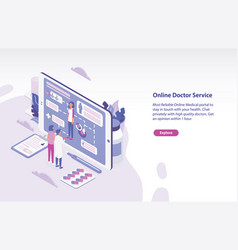 horizontal web banner template with patient and vector image