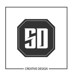 initial letter sd logo template design vector image