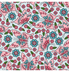 Japanese seamless pattern vector image
