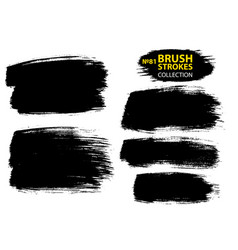 Large set different grunge brush strokes vector