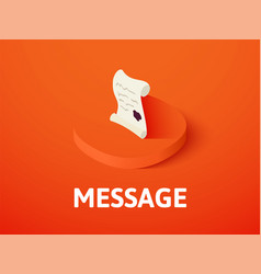 message isometric icon isolated on color vector image