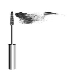 metallic realistic mascara brush with vector image