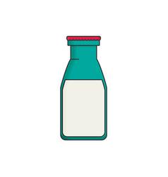 Milk bottle isolated bottle of milk flat cartoon vector