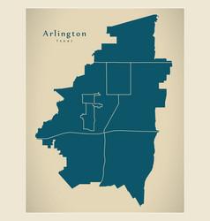 Modern city map - arlington texas city of the usa vector